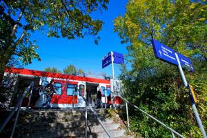 S-Bahn am Bahnsteig